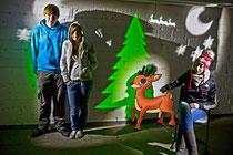 AG-Mediengestaltung; unsere schön alberne Weihnachtskarte