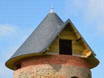 Le nouveau toit du Moulin de Mons-Boubert- janvier 2012