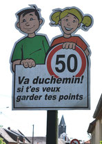 Panneau en picard à Candas- Canton de Bernaville