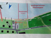 Grenzbereich für die Kite-Surfer