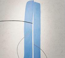 Marée, 2017, 100 x 90 cm, Eitempera auf Voile