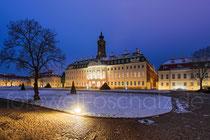 Schloss Hubertusburg Wermsdorf im Winter.
