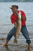 112cm Hecht aus dem Attersee, Hechtfischen mit einem Hechtspezialisten