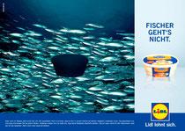 Kunde: Lidl / Agentur: Freunde des Hauses / Entwurf: Frischer Fisch 2