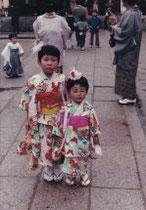 me at age 3 and my elder sister at age 7