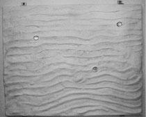 """2000-01, """"Waves II"""", gypsum, 56 cm x 40 cm"""