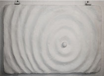 "1998-01, ""Waves I"", gypsum, 63 cm x 40 cm"