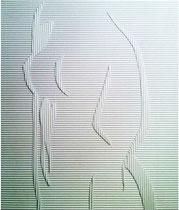 "2012-14, ""Criss-cross I"", paper, 29 cm x 29 cm"