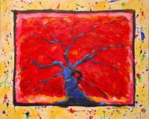 le chêne flamboyant 1 - Acrylique sur toile