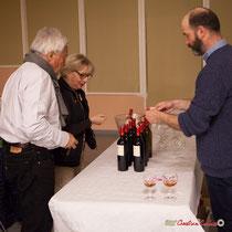 Dégustation des vins du Domaine de Sentout avec Nicolas Pons. Soirée cabaret JAZZ360. Salle culturelle de Cénac. Samedi 17 mars 2018