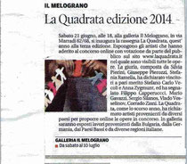 "Article on the newspaper IL TIRRENO regarding the win of Anna Zygmunt on ""LA QUADRATA"""