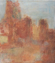 Ochrecliffs in Roussillion, 2002 _____ 40x35 acrylic, sand, paper on cotton