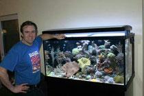 Daniel Heerz und sein Meerwasserbecken