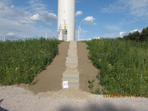 Windpark Biebersdorf - Fundament Zugängigkeit nach Fertigstellung WEA