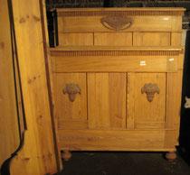 KT0094/ Doppelbett ~1910, Kiefer, EUR 450,-