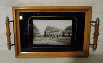 "4295/ Tablett ""Halberstadt"" ~1900, L 33, B 22cm, EUR 52,-"