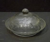 4369/ Zwiebelgefäß mit Glaseinsatz ~1900, schöner Schliff, H5, Ø 9cm, EUR 32,-