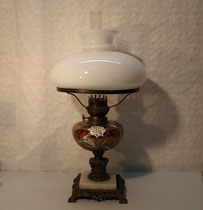 4252/ Petroleum-Tischlampe ~1900, Jugendstil, H 53cm, EUR 240,-