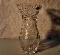 4024/ Kristallvase ~1930, H 21,5cm, EUR 36,-