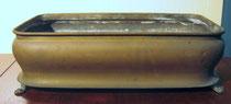 2651/ Blumenschale ~1900, Messing, L 39, H 11,5cm, EUR 35,-