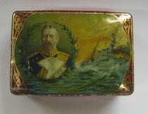 "2778/ Blechdose ""Adler Pr. Heinrich""~1900 , L 12,5cm, EUR 15,-"