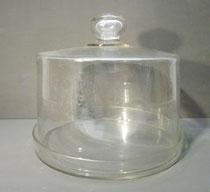 4338/ Riesen-Käseglocke mit Teller ~1850, H 23, Glocke Ø 24cm, EUR 98,-