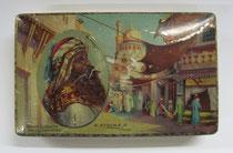 """2786/ Blechdose """"Sulima"""" ~1920, L 15cm, EUR 20,-"""