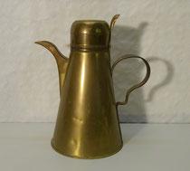 3649/ Kaffeekanne ~ 1800, Messing, H 27cm, EUR 110,-