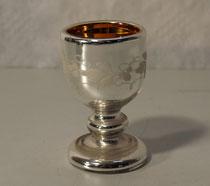 """3862/ Schnapsglas """"Bauernsilber"""" ~1800, H 7,5cm, EUR 38,-"""