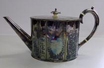 3148/ Engl. Teekanne ~1900, o.Marke, L 28, H 15cm, EUR 120,-
