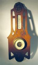 2853/ Barometer+Thermometer ~1900, Eiche, EUR 85,-