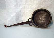 4215/ Kupferpfanne ~1850, Eisengriff, L 40 cm, EUR 36,-