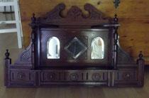 KT0274/ Garderobenbrett ~1890, Mahagoni, EUR 190,-