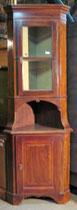 KT0016/Eckschrank ~ 1830, Mahagoni, 2-tlg.,EUR 1500,-