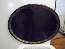 3164/ Großes Tablett ~1900, Eisen bemalt, L 77, B 61cm, EUR 65,-