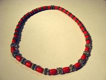 3239/ Korallenkette ~1900, 35 Perlen, L 42cm, EUR 95,-
