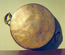 2640/ Frz. Kupferpfanne ~ 1800, Ø 27cm, EUR 45,-