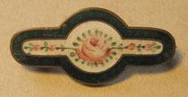 H10/ Brosche ~1850, Cloisonne-Arbeit, bemalte Emaille, L 3,7cm, EUR 70,-
