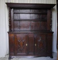 OB0054/Geschirrschrank 1796, Eiche, 2-tlg., EUR 2800,-