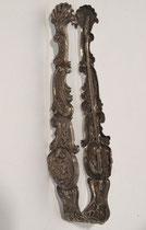 """3724/ Große Zuckerzange """"BH"""" ~1860, Silber, L 16,5cm, EUR 80,-"""