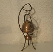 4151/ Tee-Set ~1910 (Jugendstil), Messing/Kupfer, H 51cm, EUR 120,-