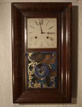 "4221K/ Wanduhr ""Waterbury"" ~1890, 2 Gewichte, H 65,B 39cm, EUR 150,-"