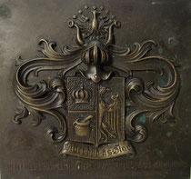 4331/ Bronzeplatte von 1910, Schleusenbau Südwesthörn, H 15, B 16cm, EUR 50,-