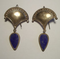 3246/ Ohrringe ~ 1960, Silber, L 7,5cm, EUR 28,-