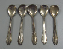 3109/ 5 Salzlöffel ~1920, 90er Auflage, L 7cm, EUR 20,-