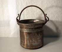 3911/ Marokkan. Eimer ~ 1850, Kupfer+Eisengriff, H 40, Ø 29,5cm, EUR 85,-
