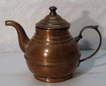 4152/ Teekanne ~1850, Kupfer, innen verzinnt, H 10,5cm, EUR 32,-