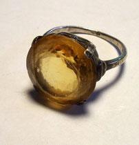 3251/ Ring ~1930, Silber/Zitronit, U 6, Ø 1,6cm, EUR 75,-