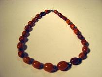 3238/ Bernsteinkette ~1900, geschliff. Perlen. L 40cm, EUR 68,-