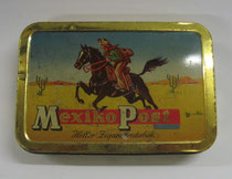 "2780/ Blechdose ""Mexiko Post""~1930, L 13cm, EUR 20,-"